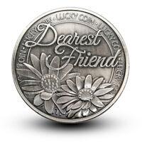 Happiness Daisy Dearest Friend Pocket Token Lucky Coin Gift Present For Him Her