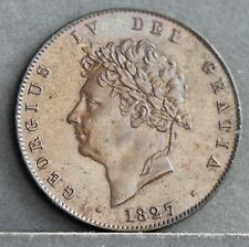 More details for george iv copper halfpenny, 1827. s3824. aunc. ref.cc