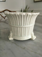 Vintage Mid Century Modern Footed Spanish Planter Pottery Spain