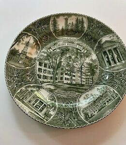 Old English Staffordshire Pottery Souvenir Plate. Dartmouth Colleege College Row