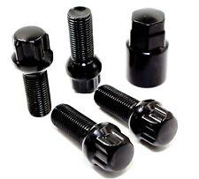 4 14x1.5 28mm Black Ball Seat Wheel Locks for Mercedes Factory Wheels C E SL