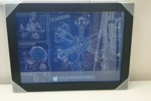 Stargate atlants blueprint A3 artprint poster in brand new wooden frame