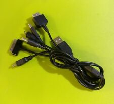 Cable USB 6 en 1 (PS4, PS3, PS Vita, PSP, 3DS, 2DS, Android, Iphone, Ipad...)