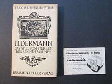 JEDERMANN DAS SPIEL VOM STERBEN DES REICHEN MANNES in German 1938 with Card