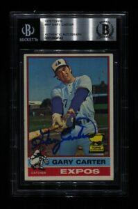 1976 TOPPS GARY CARTER #441 EXPOS HOF SIGNED AUTO BECKETT BAS