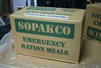 Case Of  14 SOPAKCO MRE Emergency Ready to Eat 09/20 Inspect Date REDUCED