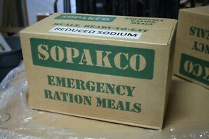 Case Of  14 SOPAKCO MRE Emergency Ready to Eat 09/20 Inspect Date REDUCED SODIUM