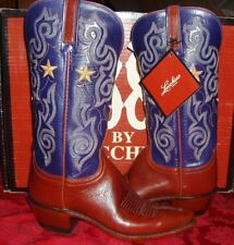 1883 by Lucchese N7192  Brown/Navy  Leather Western Cowboy Boots 6.5 M-NIB