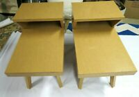 Vintage Pair Mid Century Modern Two Tier End Tables