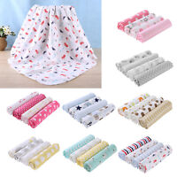 4pcs Newborn Infant Baby Cotton Printed Blanket Wrap Sleeping Swaddle Bath Towel