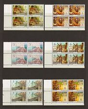 PAPUA NEW GUINEA 1973 SG 241/59 MNH Blocks of 4 Cat £30