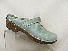 El Naturalista Light Blue Leather Slip On Comfort Shoes Size 40 EUR GUC
