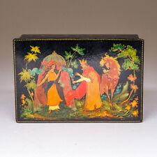 "Vintage 1968 Russian Palekh Lacquer Box Signed Surina ""Vasilisa the Beautiful"""