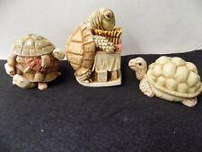 3 Harmony Kingdom Turtles' Theme Trinket Boxes made in England.No Boxes.