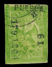 "MEXICO 1865 Eagle 4r green PUEBLA 179 1864  sub 61 ""Tehuacan"" Sc#24 used FVF - R"