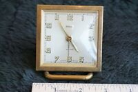 VTG Endura Brass Wind Up, Glow in The Dark, Display Alarm Clock, Made in France