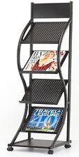 Soporte de exhibición Revista Prospecto showroom de unidad de rack Estante 4 Curvo portátil