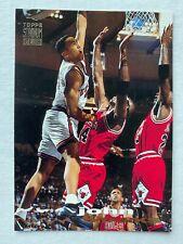 MICHAEL JORDAN on JOHN STARKS Dunking on Him 1993-94 Stadium Club #116 Bulls