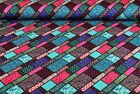 Baumwolljersey Ki-Kö-Design Traumstoffe Mandala Raute Glas Pink