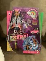 BNIB 2020 Barbie Extra Doll #5 w/Long fringe jacket & mini car & pup15 Pieces