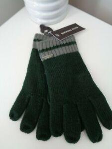 BNWT Michael Kors Men's Green Acrylic Knitted Gloves  Gift Idea!!