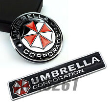 2pcs Plating Metal Umbrella Corporation Resident Evil Logo 3D Car Sticker Badge