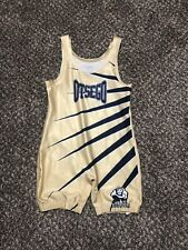 Wrestling Singlet Otsego Destoryers Gold Yellow And Navy