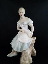"Royal Doulton Figurine Reflections Shepherdess Lady & Lamb 8 1/4""h Hn 2990"