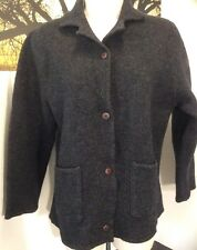 GAELTARRA IRELAND Pure Wool button down SWEATER w/ pockets Size Small