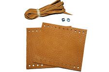New Tan Leather Motorcycle Grip Covers Set For Indian Scout, Bobber and Sixty