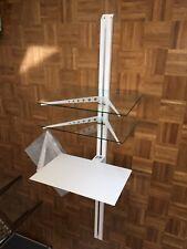 HiFi Wand Regal Dreh Konsole Glas/ Metall, weiss, sehr solide Ausführung