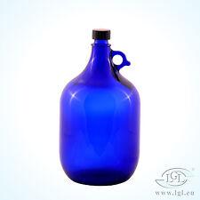 5 Litros Globo de cristal Botella azul Vino Almacenaje Agua Ficha de henk once