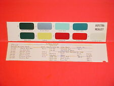 1953-1966 AUSTIN HEALEY SPRITE 100-6 3000 MK II III IV ROADSTER 100M PAINT CHIPS