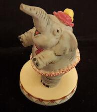 "Dancing Elephant Pink Tutu Figurine Circus Royale 9612 Wallace Berrie 5"" Vintage"