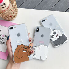 For IPhone 12 11 Pro Max XS XR 6 7 8 Cute Cartoon We Bare Bears clear Phone Case