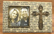 """Lord Hear My Prayer Faith Collection Cross & Picture Frame for 4x4"""" Photo"""