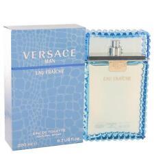 Versace Man by Versace Eau Fraiche 6.7 oz Eau De Toilette Spray (Blue) for Men
