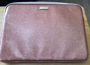 Kate spade New York sparkle pink zipper computer laptop storage padded bag