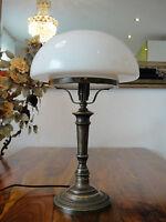 Tischlampe Pilz Lampe Jugendstil Antik Tischleuchte Schreibtischlampe Messing