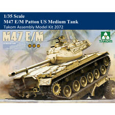 Takom 2072 1/35 Scale M47 E/M Patton US Medium Tank Plastic Military Model Kits