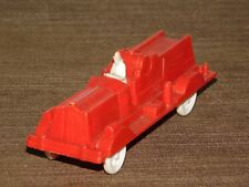 "VINTAGE MINI  TOY 4 3/4"" LONG RED PLASTIC  FIRE ENGINE TRUCK"
