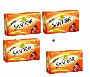 Pack Of 4 Santoor Sandal and Turmeric Soap - 100 Gram