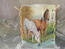 Deko Windlicht Pferde am Fluß Tischlicht Unikat Geschenkidee