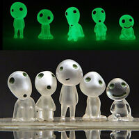 5Pcs Design Luminous Glow in Dark Toy Princess Mononoke Forest Spirit Elf Kodama