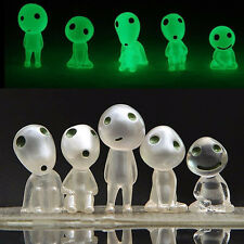 5Pcs Luminous Glow in Dark Toy Princess Mononoke Forest Spirit Elf Kodama NEW