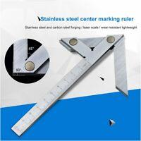 Center Angle Gauge Square Round Bar Marking Center Finder Tool 100x70mm ZJ