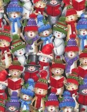 Animal Fabric - Christmas Carol Cats Packed - Timeless Treasures Yard
