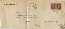 Caribbean, Envelope Regia Legazione Italiana Avana, 2 Stamps 3C + 10C m