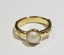 Authentic LOREE RODKIN 18K Yellow Gold Pearl Ring New