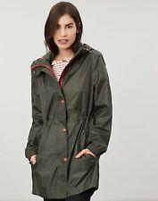 Joules Womens Golightly Solid Waterproof Packaway Jacket - EVERGLADE Size 12